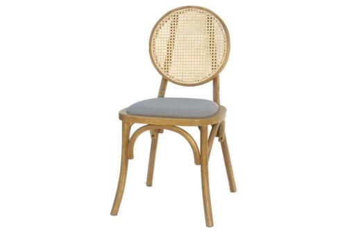 כסא פינת אוכל מעץ מרופד